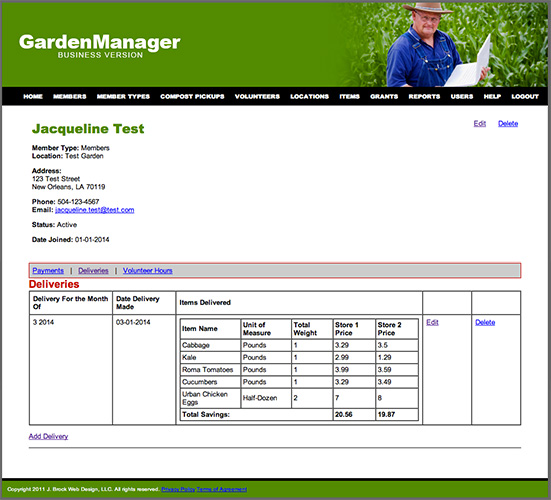 GREEN ROOTS Network Garden Manager